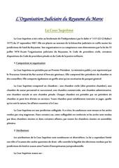 organisation judiciaire au maroc