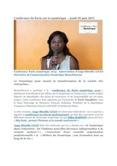 conference paris numerique 2015