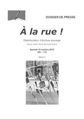 dossier presse a la rue edition2