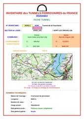 inventaire des tunnels ferroviaires de france