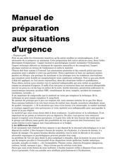 manuel de preparation aux situations d urgence