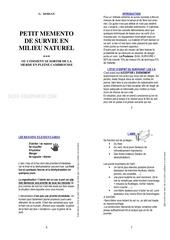 memento de survie pages impaires print version