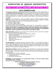 2015 ecowas fellowship programme advert