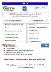 avis offre formation licence pro 2015