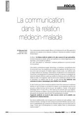 Fichier PDF communication medecin malade 1