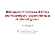 relation entre medecins et firmes pharmaceutiques stu