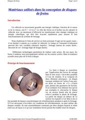 Fichier PDF disque de freins