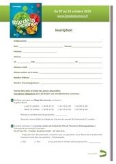 formulaire inscription scolaires fds 2015