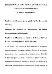 declaration de m benflis c presse15092015