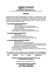 Fichier PDF annonce avocat11092015