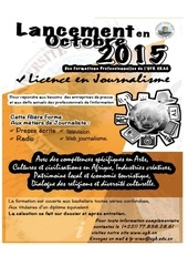 appel a candidatures licence journalisme 2015 2016