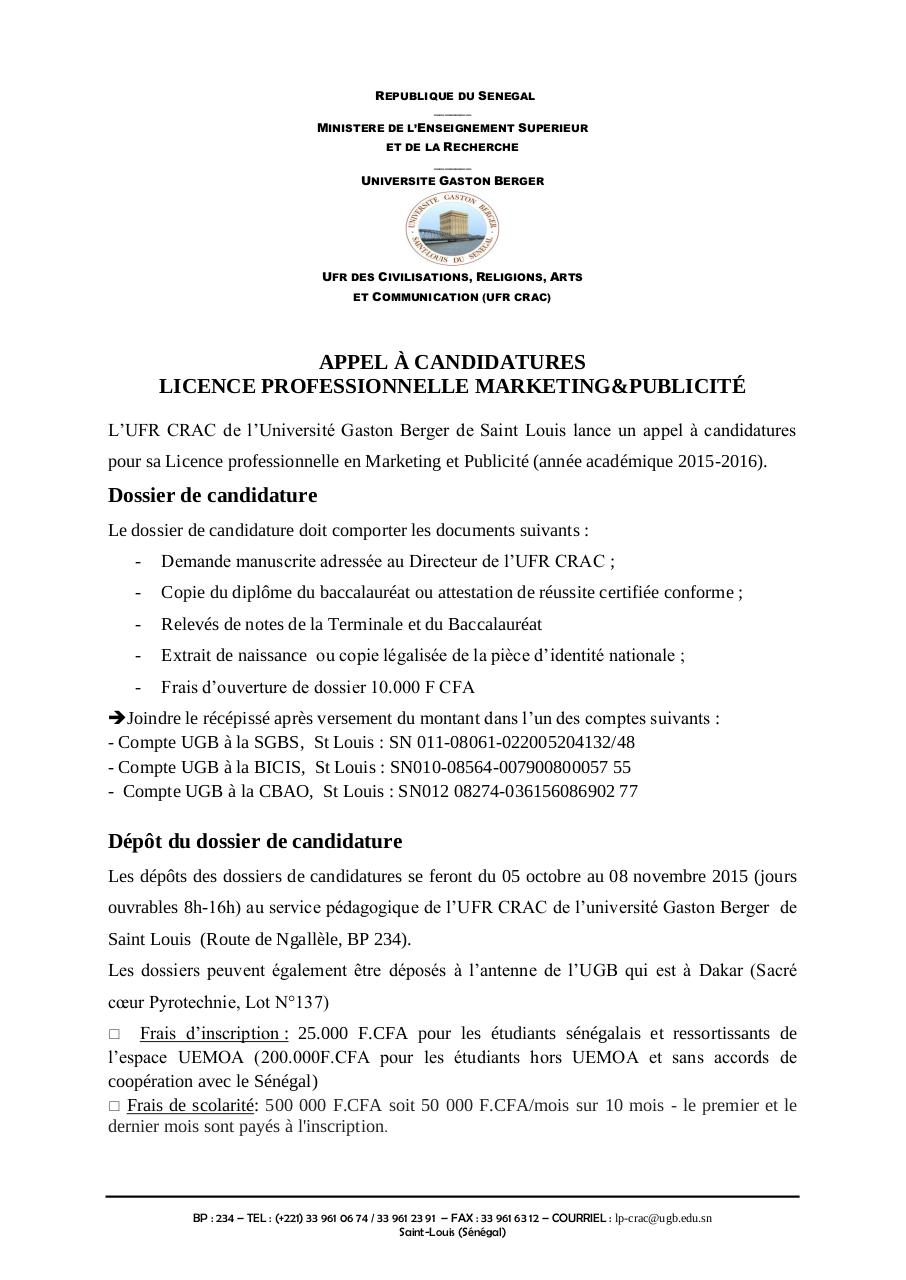 Appel à candidatures Licence Marketing-publicité_2015 2016.pdf - page 2/2