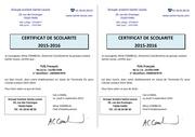 Fichier PDF certificat de scolarite
