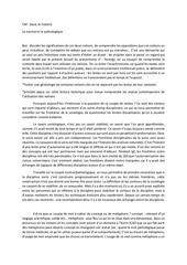 cm socio et histoire 20132014 normal et pathologique