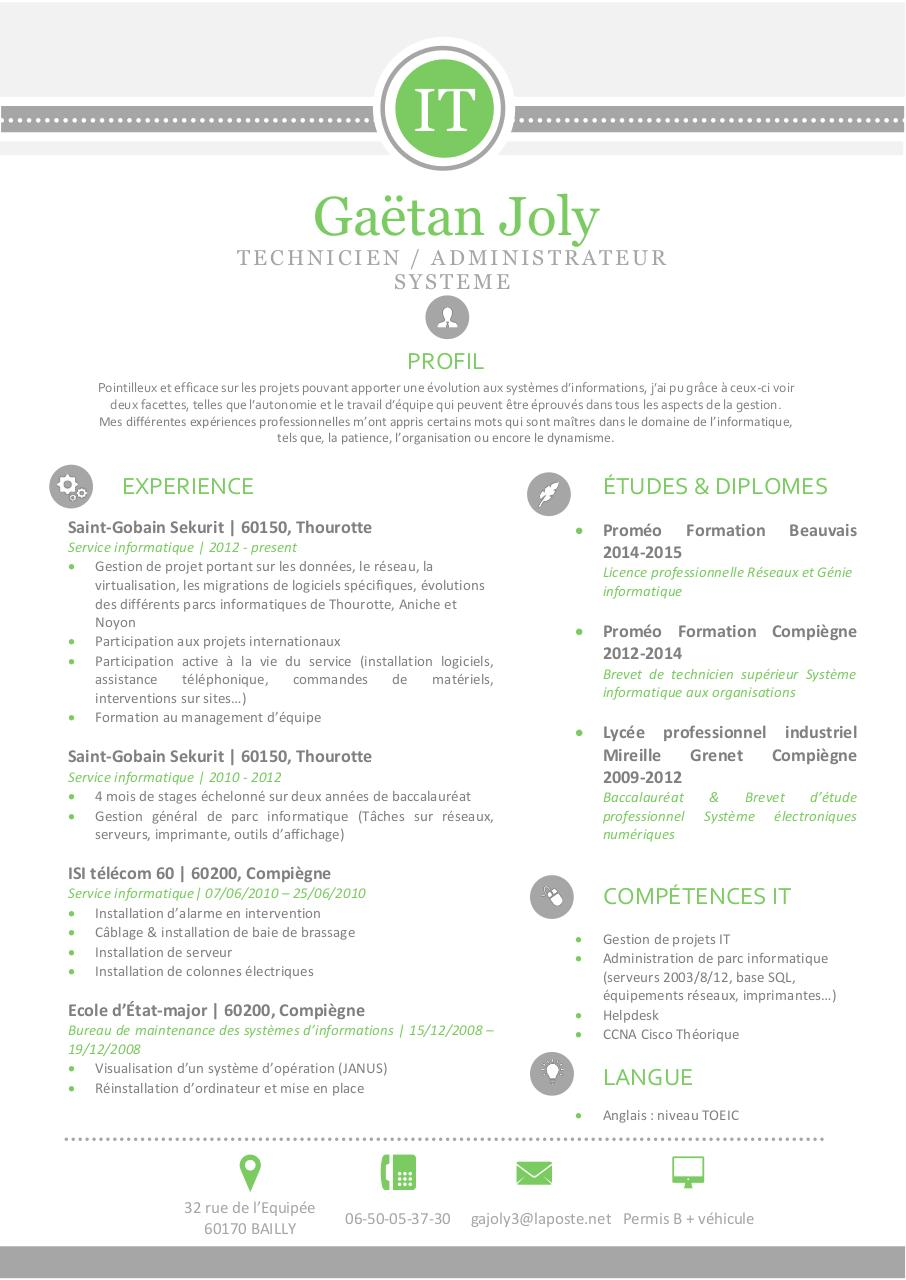 cv gaetan french version par damry