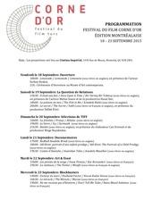 programmation festival du film corne d or 2015 1
