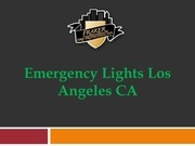 emergency lights los angeles ca