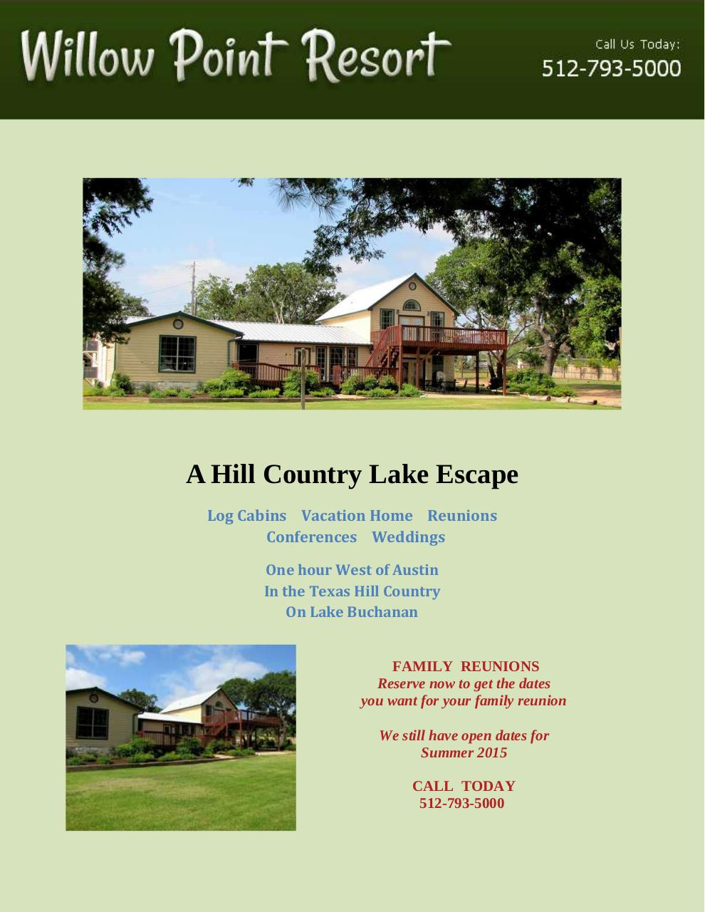 Hill Country Tx Cabins Fichier Pdf