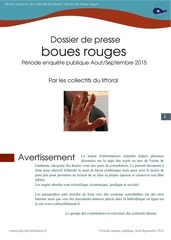 dossier de presse boues rouges 2015 collectifs littoral