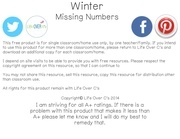 Fichier PDF winter missing number clip cards