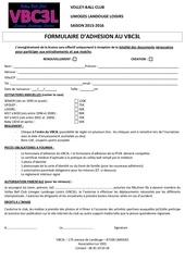 formulaire d adhesion vbc3l saison 2015 16