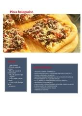 pizzea bolognaise
