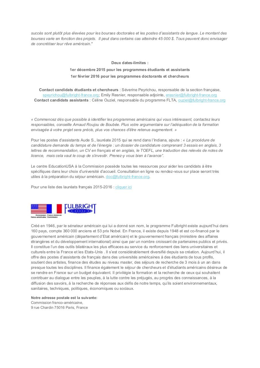Aperçu du document Bourses Fulbright 2016-2017.pdf - page 2/2