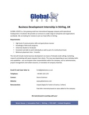 business development internship uk