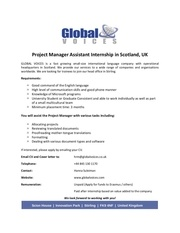 project manager assistant internship