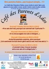 affiche cafe parents d ado 2eme 2015