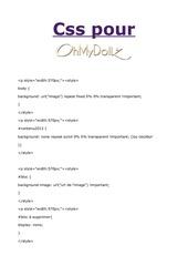 Fichier PDF css de base pour ohmydollz