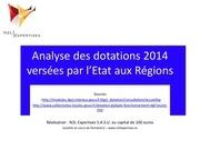 dotations 2014 etat a region analyse