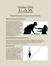 sexual harassment lawyer ventura county