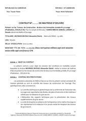 contrat de maitrise kamse