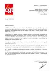 lettre ministre rtt