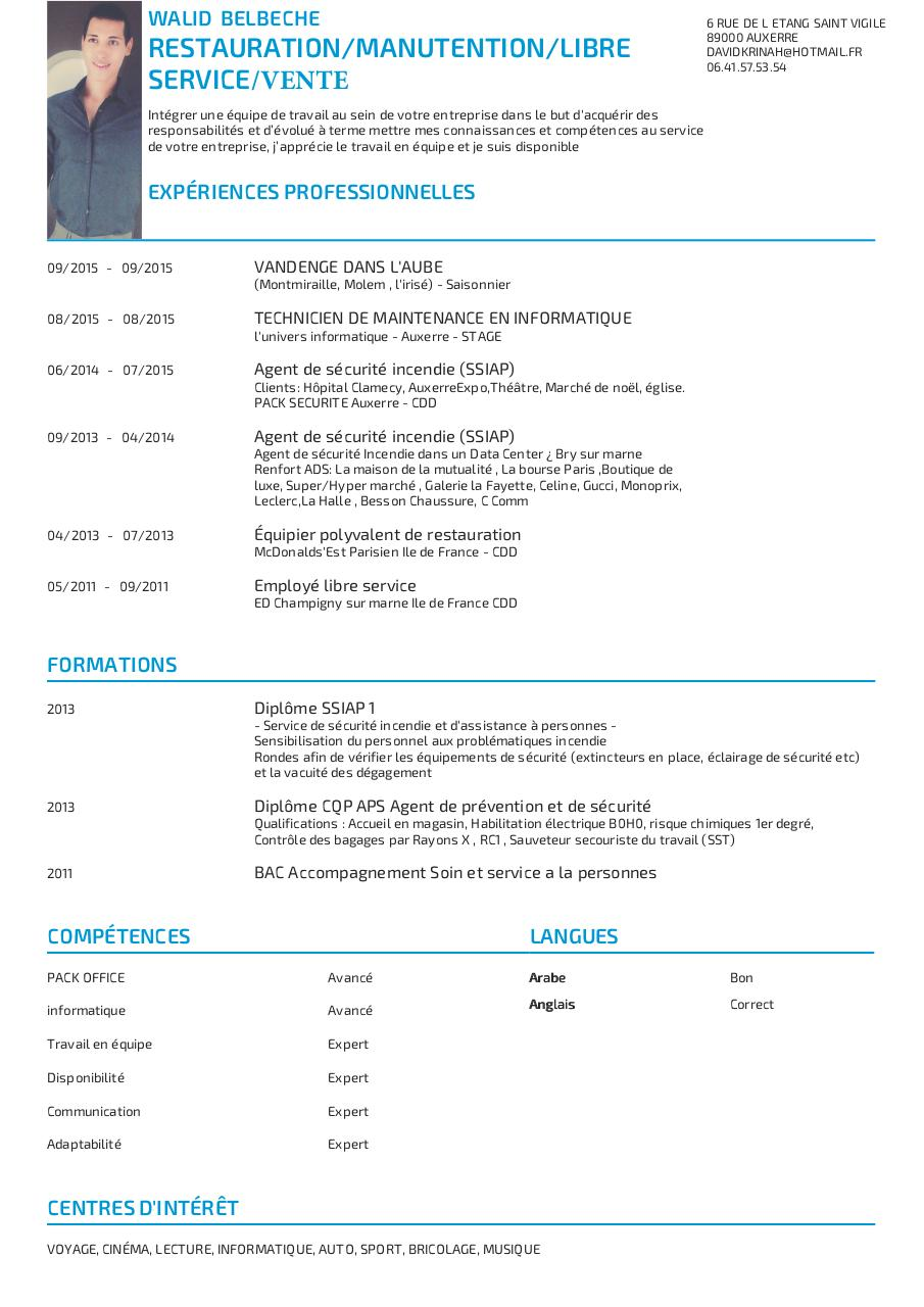 fichier pdf  impression cv - cv pe septembre avec photo pdf  1