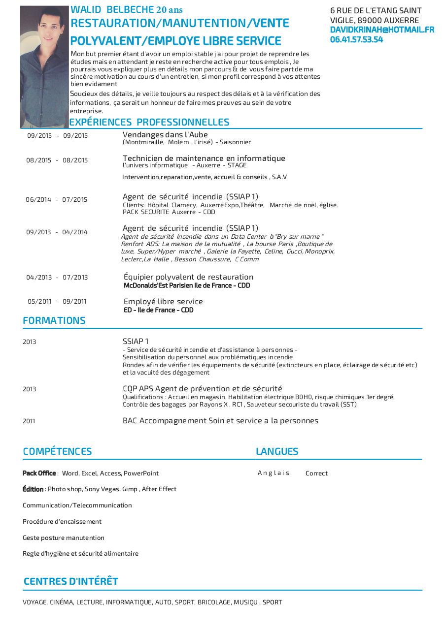 impression cv - mon cv new septembre   photo a tester pdf