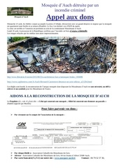 incendie criminel mosquee auch