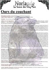 ours du couchant