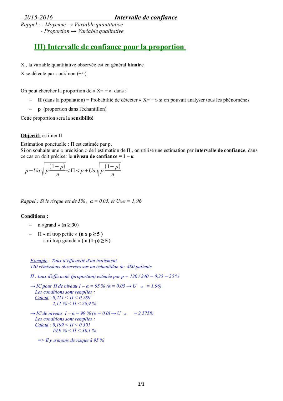 intervalle de confiance pdf
