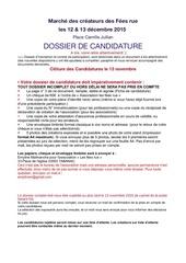 dossier candidature marche fees rue 12 13 decembre 2015