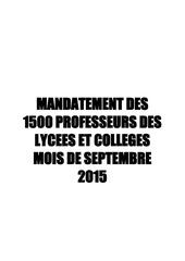 mandates du mois de septembre 2015 pour tous le pays mena