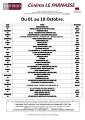 prog du 01 au 18 octobre