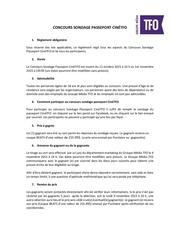 reglement concours sondage passeport