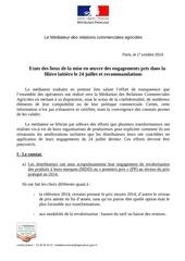 bilan recommandations filiere laitiere mediateur