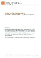croal complaisance actions possibles et references