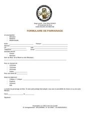 Fichier PDF parainage
