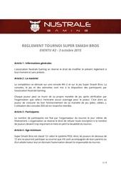 reglement ssb