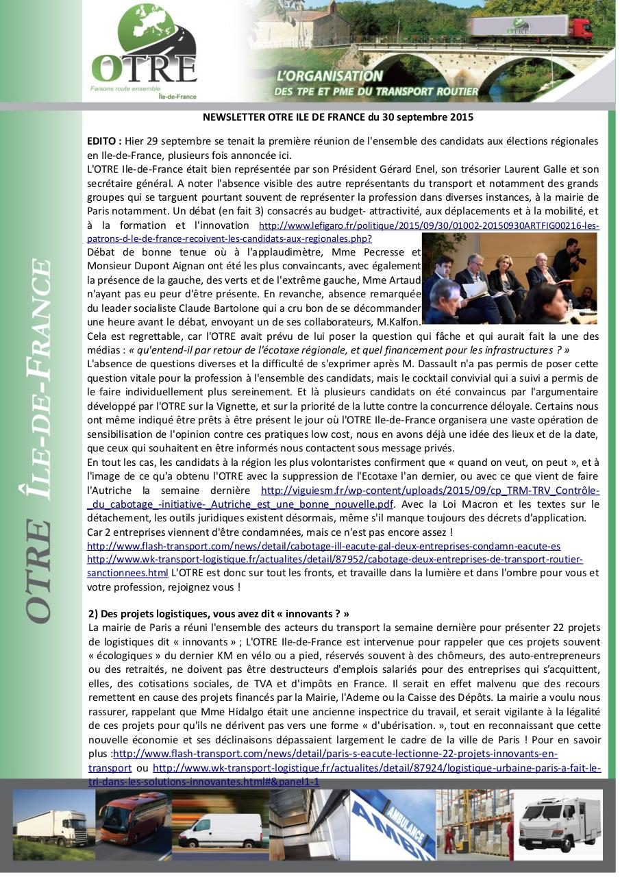Aperçu du document News OTRE IDF 30 septembre 2015.pdf - page 1/3