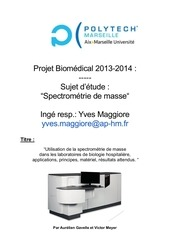 spectrometre de masse pojet biomed